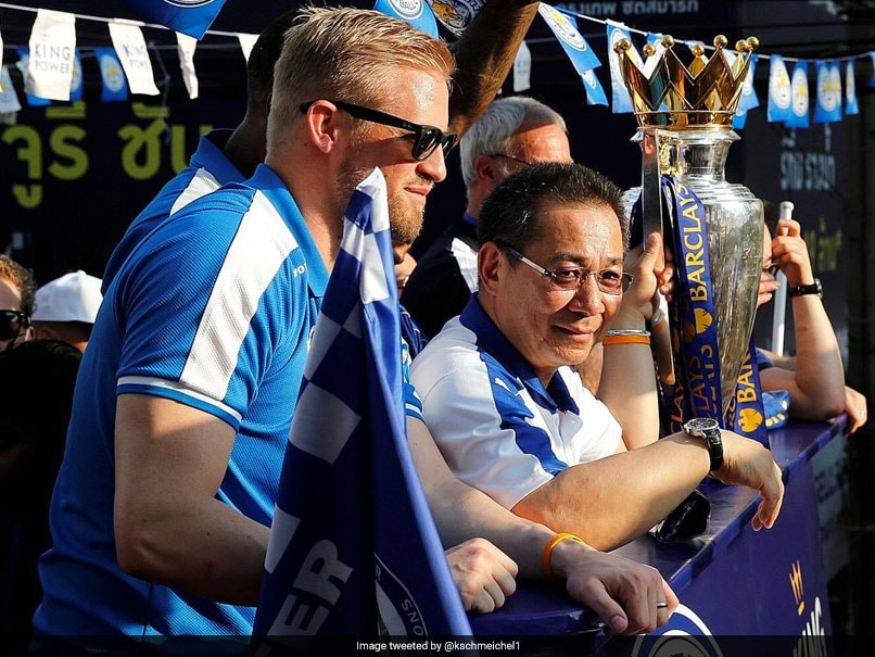 Schmeichel in tears as Leicester bid farewell to Vichai