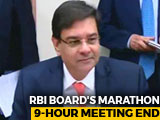 Video : RBI Board Meeting, Amid Rift With Centre, Ends After 9 Hours