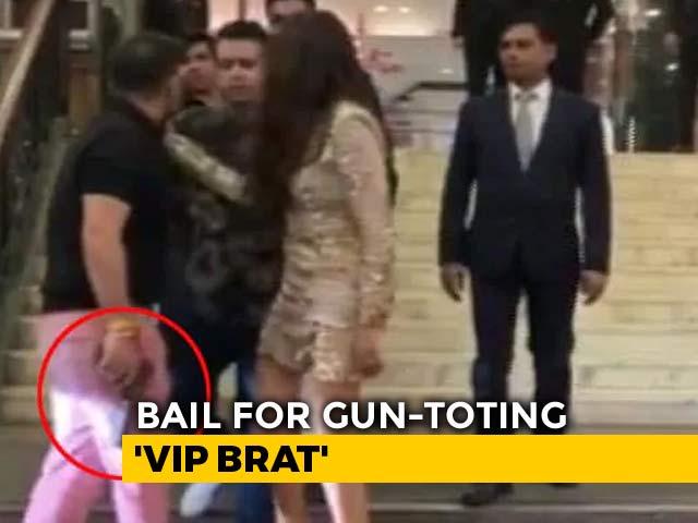 Video : Ex-BSP Lawmaker's Son, Who Waved Gun At Delhi 5-Star Hotel, Gets Bail