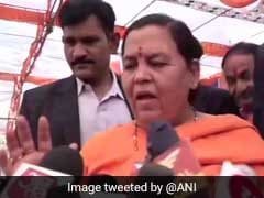 """BJP Doesn't Have A Patent On Ram <i>Mandir</i>"": Union Minister Uma Bharti"
