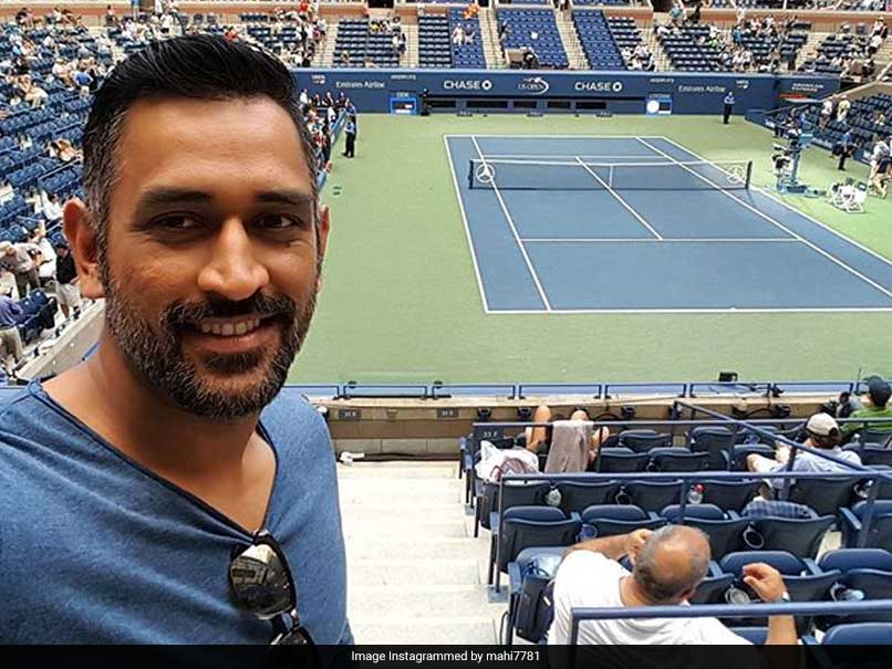 MS Dhoni Swaps The Cricket Bat With The Tennis Racquet; See Pictures