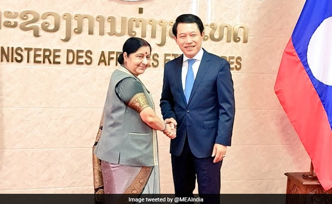 Sushma Swaraj Meets Laotian Counterpart, Holds India-Laos Bilateral Talks