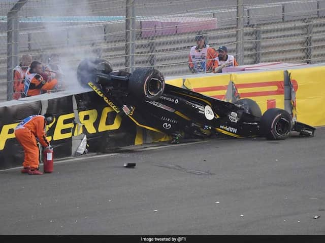 Watch: how Nico Hulkenberg survived for 3 minutes in a blazing car at Abu Dhabi Grand Prix