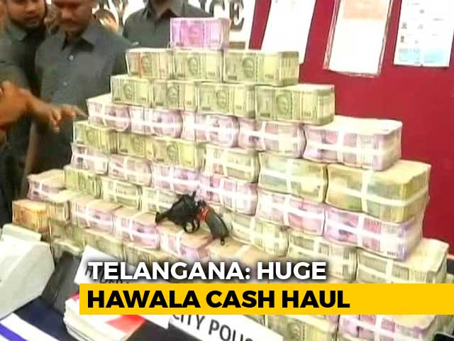 "Video : Over 7 Crores In Cash, ""Bribe For Voters"", Found Ahead Of Telangana Polls"