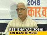 "Video : ""Mass Agitation"" If Needed, Says RSS No. 2 On Ram Temple"