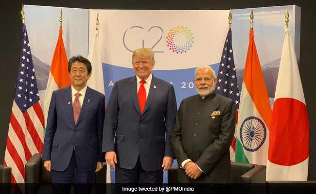 PM Modi Holds First Trilateral Meet With Trump, Shinzo Abe In Argentina