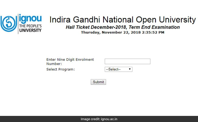 IGNOU Releases Hall Tickets For December Exam