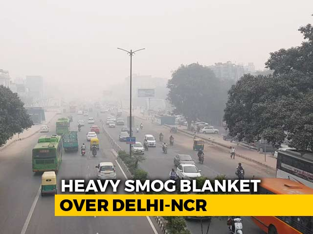 Video : Thick Smog In Delhi Before Diwali, Pollution Levels Cross Safe Limit