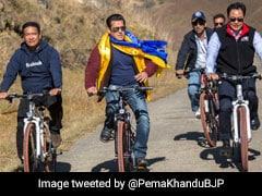 सलमान खान ने अरुणाचल प्रदेश के CM व किरन रिजिजू संग चलाई साइकिल, Video हो रहा वायरल