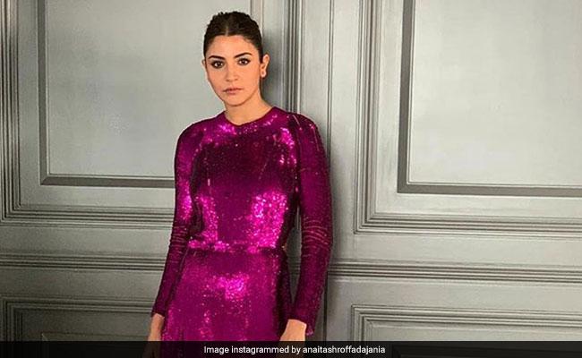 5cef01d6ee1bd How To Wear A Magenta Sequin Dress Like Anushka Sharma