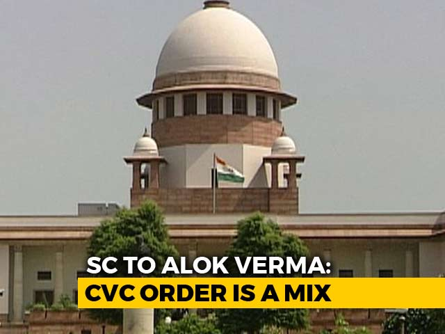 "Video : ""Mixed Report"" On Exiled CBI Boss Alok Verma, Says Supreme Court"