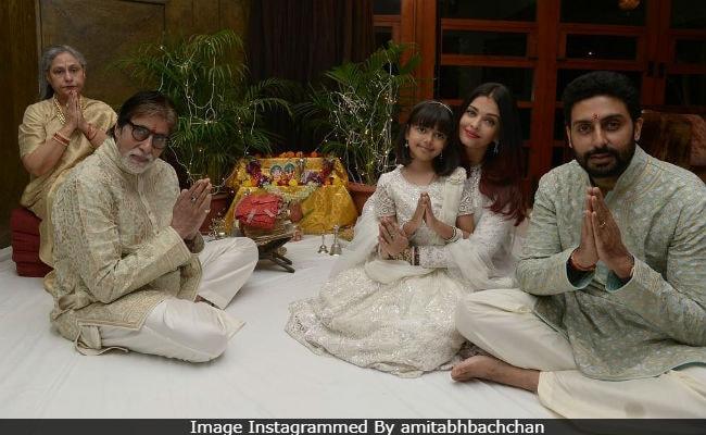 Fab Pics From Amitabh Bachchan, Jaya, Abhishek, Aishwarya And Aaradhya's Diwali Celebrations