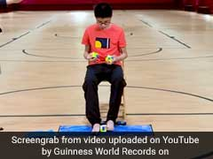 Teen Solves 3 Rubik's Cubes Simultaneously, Sets World Record. Watch