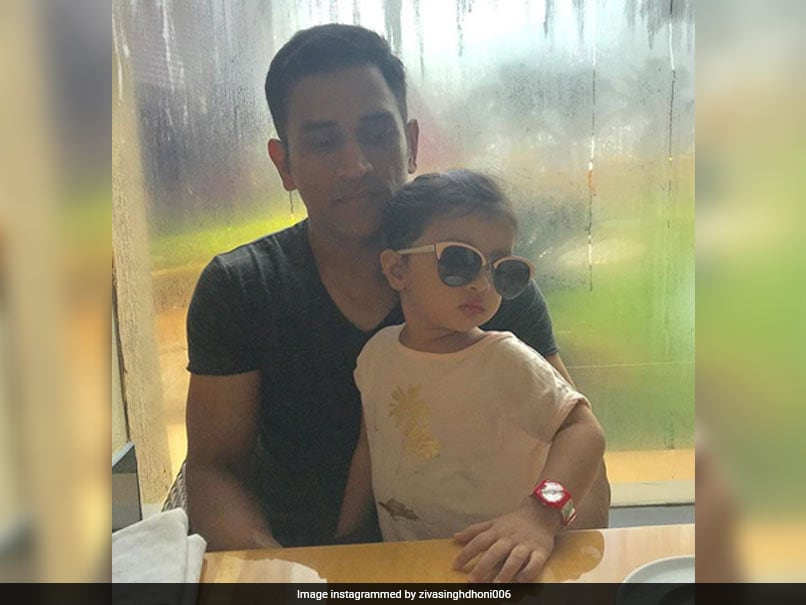 "MS Dhoni Becomes Daughter Ziva's ""Bugs Bunny"". Watch Video"