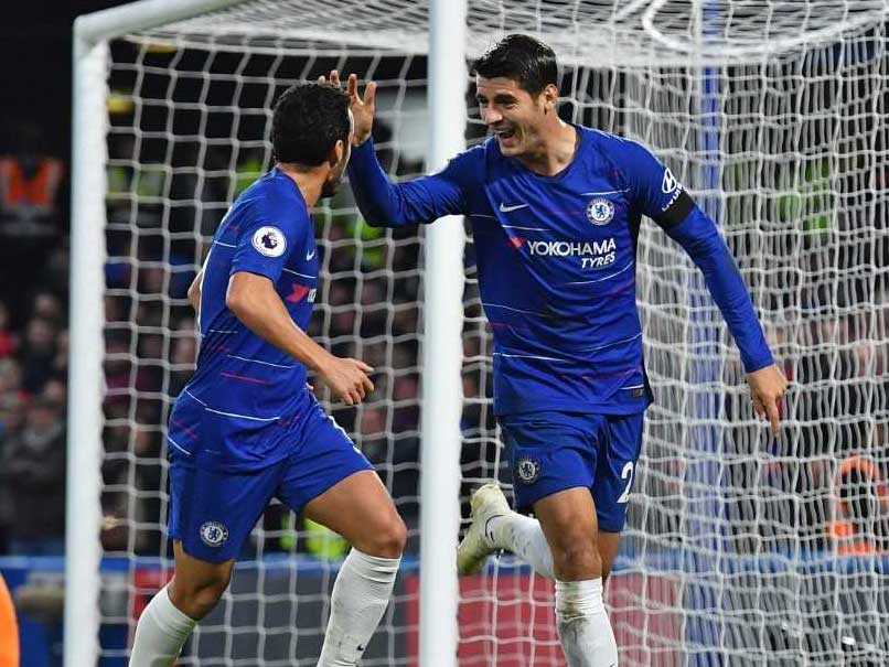 Alvaro Morata Double Sends Below-Par Chelsea Into Second Place