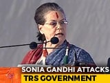 "Video : ""KCR Cares Only For A Favoured Few"": Sonia Gandhi At Maiden Telangana Rally"