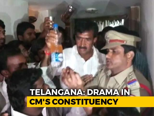 Video : Telangana Politician Allegedly Attempts Suicide After Police Raid At Home