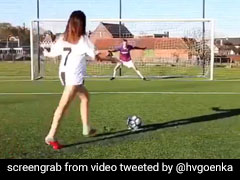 Watch: Girl Shows How Ronaldo, Messi, Pogba, Neymar Take Penalty Kicks