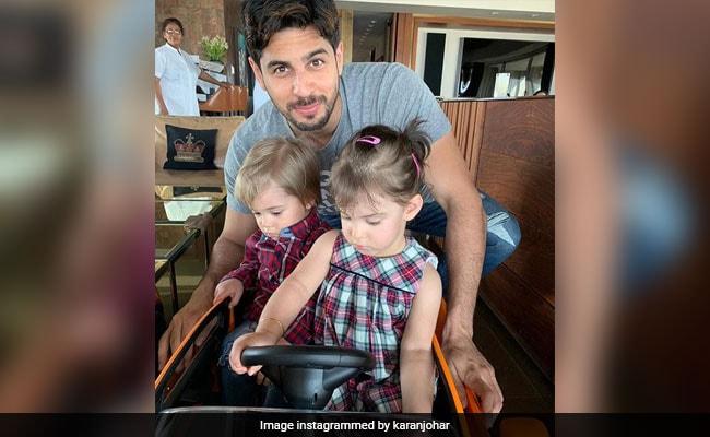 Sidharth Malhotra Spends Time With Karan Johar's Twins Yash And Roohi. See Pics