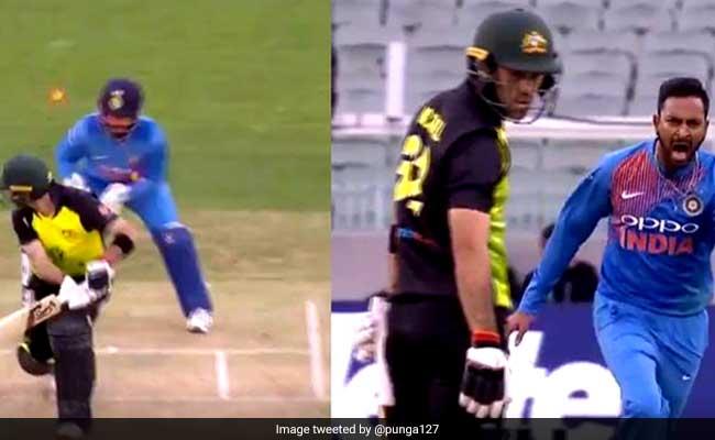 India Vs Australia: पंड्या के जाल में फंसा ये खिलाड़ी, चालाकी से उड़ा दी गिल्लियां, देखें VIDEO