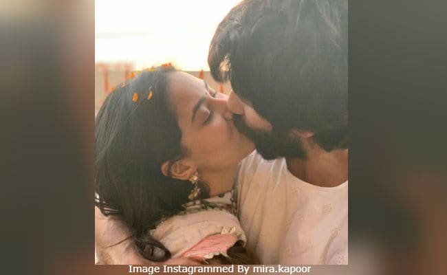 Shahid Kapoor And Mira Rajput Seal It With A Kiss On Diwali