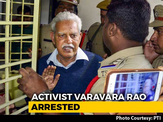 Video : Activist Varavara Rao Arrested Again For Alleged Link To Maoist Plot