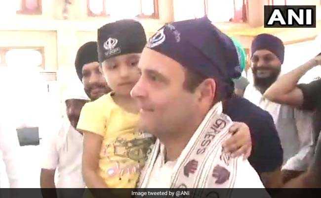 Rahul Gandhi Visits Darbarsahib Gurudwara In Chhattisgarh