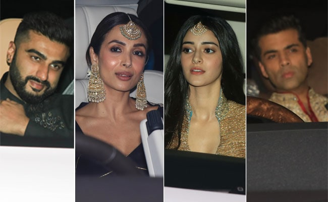 Arjun Kapoor, Malaika Arora, Karan Johar, Ananya Panday: Guests At Designer Abu Jani And Sandeep Khosla's Grand Diwali Party
