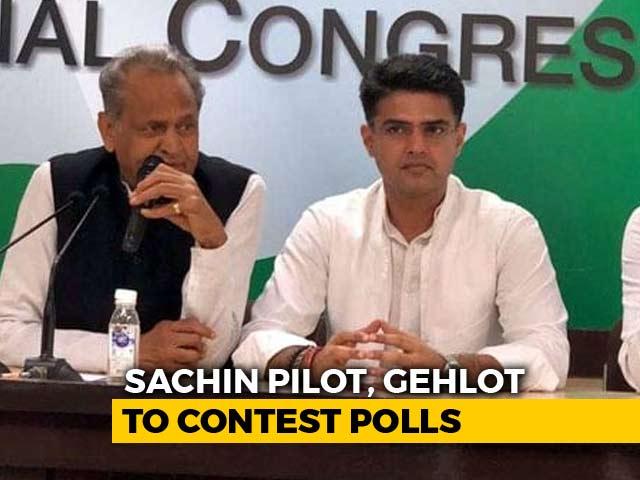 Video : Sachin Pilot, Ashok Gehlot Will Both Contest Rajasthan Polls, Deny Rift