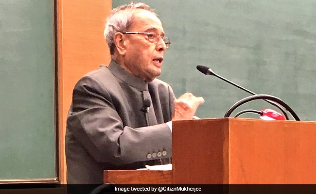 'India Should Have Been A $5-6 Trillion Economy By Now': Pranab Mukherjee