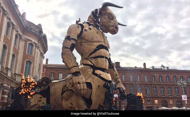 A Giant Spider And Minotaur: Fantastic Beasts On The Streets Of France