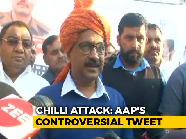 """Video : Day After Chilli Powder Attack, Arvind Kejriwal Says """"Powerful People"""" Want Him Dead"""
