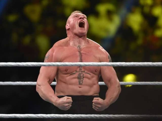 Watch: Brock Lesnar Thrashes Jinder Mahal, Singh Brothers In WWE Face-Off