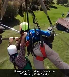 Watch: Hang-Glider Holds On For Life As Pilot Forgets To Attach Harness