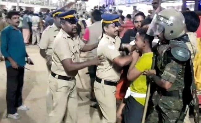 सबरीमाला मंदिर: देर रात CM के घर के बाहर प्रदर्शन, 70 लोग हिरासत में, केंद्रीय मंत्री बोले- आपातकाल से बुरे हालात