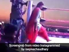 सपना चौधरी कूंदीं कुश्ती के रिंग में और फिर हुआ कुछ ऐसा, Video ने उड़ाया गरदा...