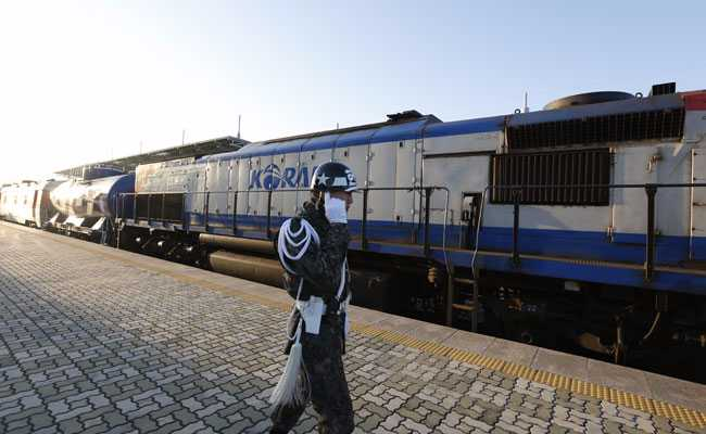 South Korea Sends Train Into North Korea, For The First Time In A Decade