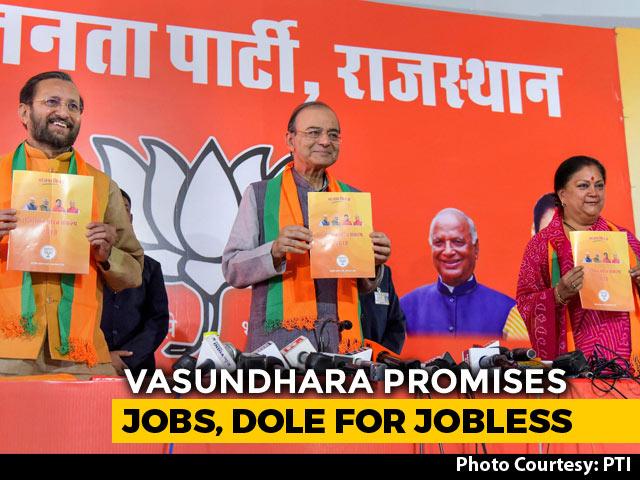 Video : 50 Lakh Jobs In 5 Years, BJP Promises Ahead Of Rajasthan Polls