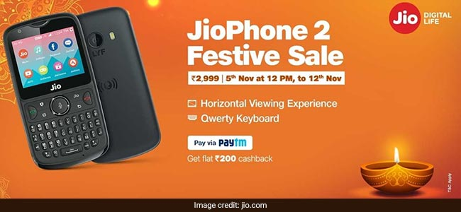Jio phone 2 festive sale, Jio phone 2 EMI, Jio phone 2 EMI option, Jio phone 2 cash on delivery, Jio phone 2 COD, Jio phone 2 availability, Jio phone Diwali sale, Jio Diwali offer, Jio Phone 2 Diwali sale, Jio Phone 2 Diwali deal