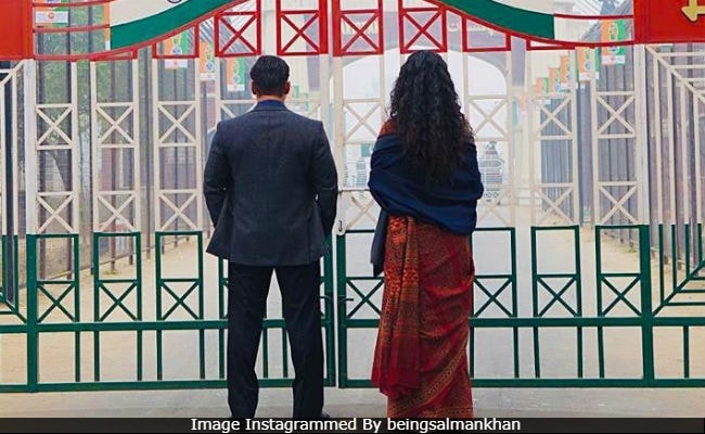 In New Bharat Still Salman Khan And Katrina Kaif At Wagah Border