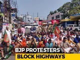 Video : Protesters Block Kerala Highway As BJP Calls It Day Of Sabarimala Protest