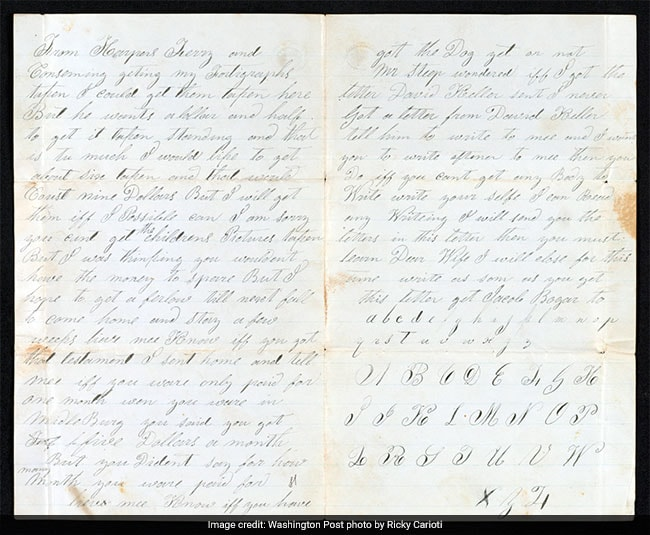 'Cant Write When I Pleas': Poignant Letters By An Illiterate In 1860s US
