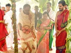 KCR Holds Grand <i>Yagna</i> At Farmhouse Ahead Of Telangana Polls. See Photos