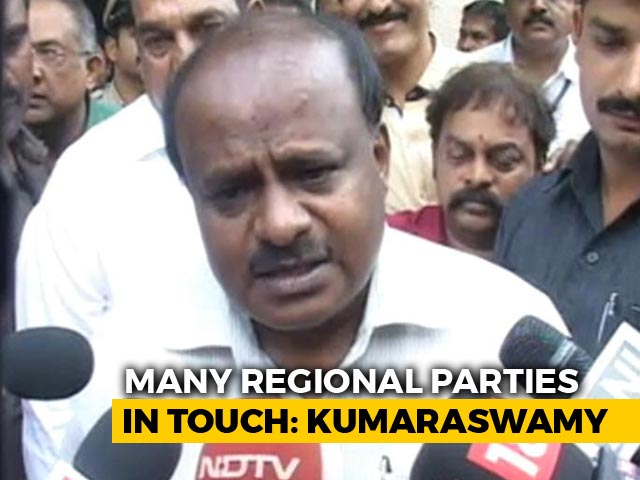 Video : 'Leadership Of Alliance Front Not Important Issue': HD Kumaraswamy To NDTV