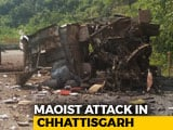 Video : 5 Killed As Maoists Blow Up Bus In Chhattisgarh's Dantewada