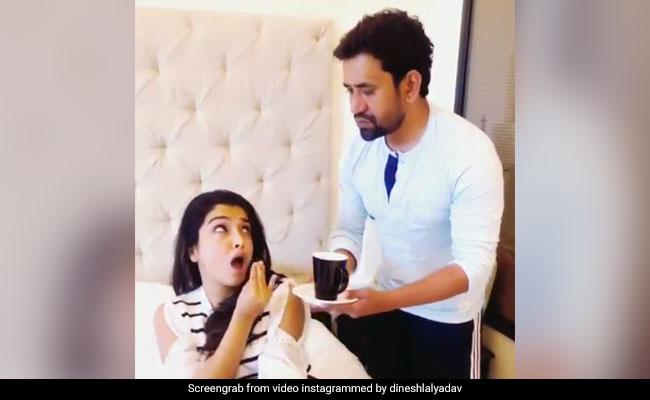 निरहुआ ने शादी में लिया दहेज तो आम्रपाली दुबे ने कुछ यूं दिखाए नखरे... देखें Video