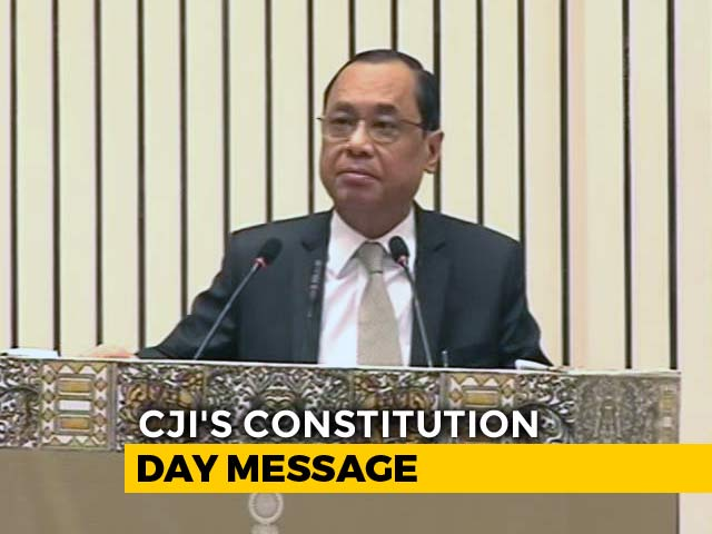 """Video : """"Don't Lay Your Liberties At The Feet Of Even A Great Man"""": Chief Justice"""