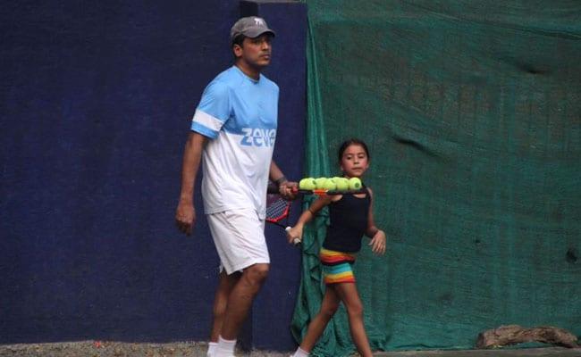 Nothing Much, Just Some Cute Pics Of Lara Dutta And Mahesh Bhupathi's Daughter Saira From The Tennis Court