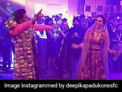 दीपिका पादुकोण ने पति के साथ लगाए ठुमके, रणवीर सिंह ने उड़ाई कपड़ों की खिल्ली; देखें Video