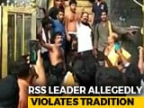Video : RSS Man, Leading Protests At Sabarimala, Allegedly Breaks Tradition